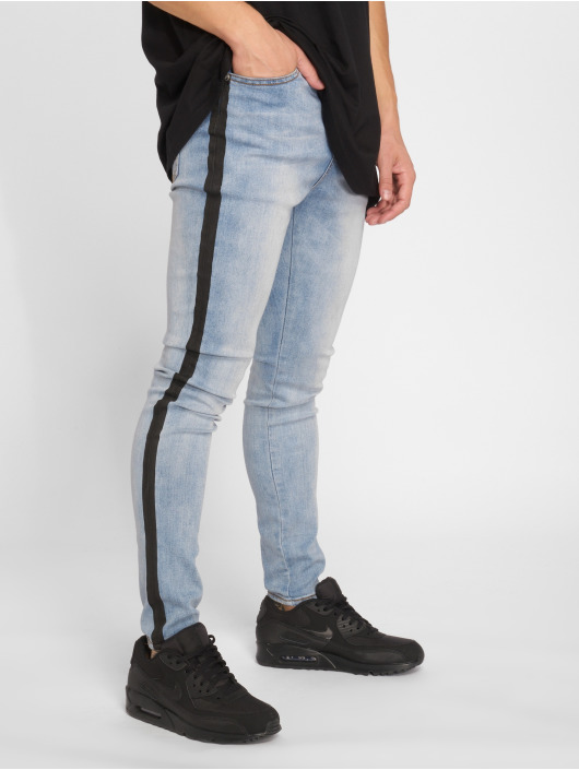 Sixth June Skinny Jeans Stripe modrý