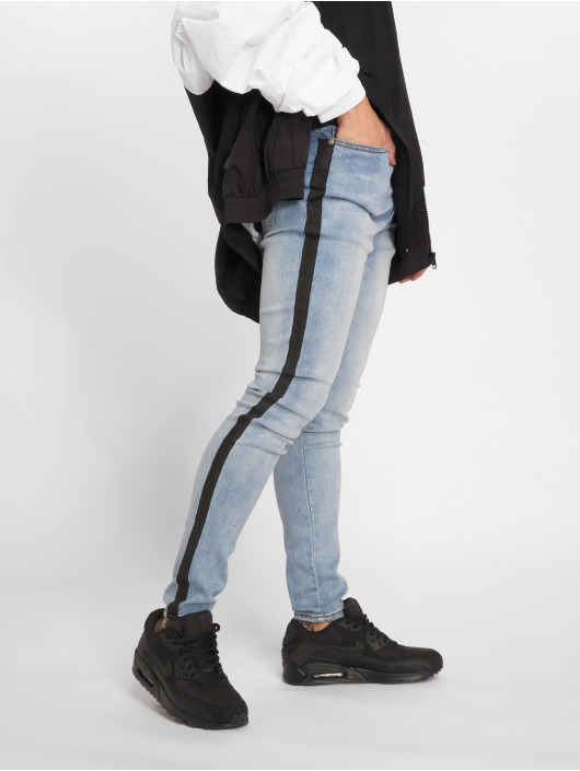 Sixth June Skinny Jeans Stripe niebieski