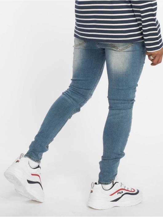 Sixth June Skinny Jeans Open Knee Detail niebieski