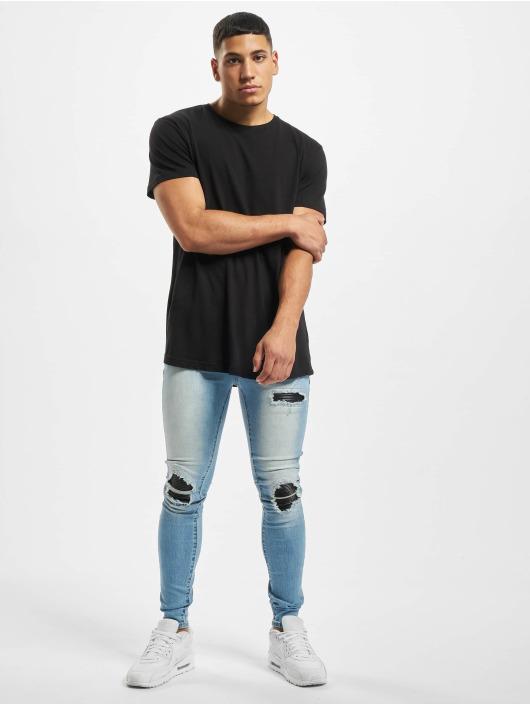 Sixth June Skinny Jeans Denim With Inside Biker Yoke niebieski