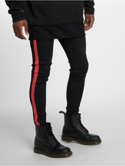 Sixth June Skinny Jeans Denim With Bands schwarz