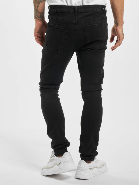 Sixth June Skinny Jeans Inside Bandana Yoke schwarz