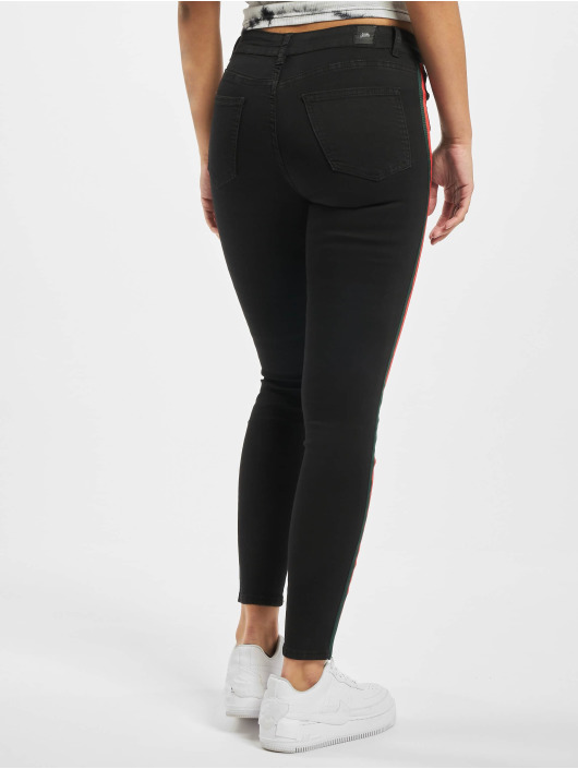 Sixth June Skinny Jeans With Bands schwarz