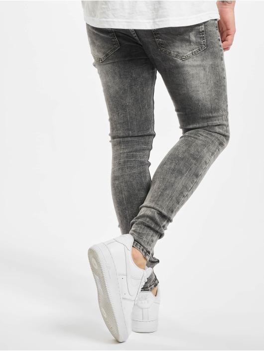 Sixth June Skinny Jeans Denim Washed szary