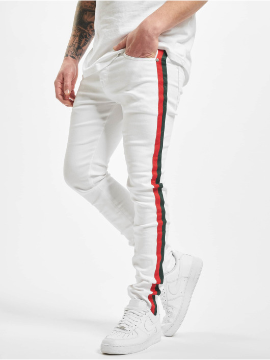 Sixth June Skinny Jeans Denim With Bands weiß