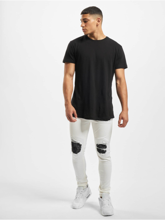 Sixth June Skinny Jeans Denim With Inside Bandana Yoke weiß