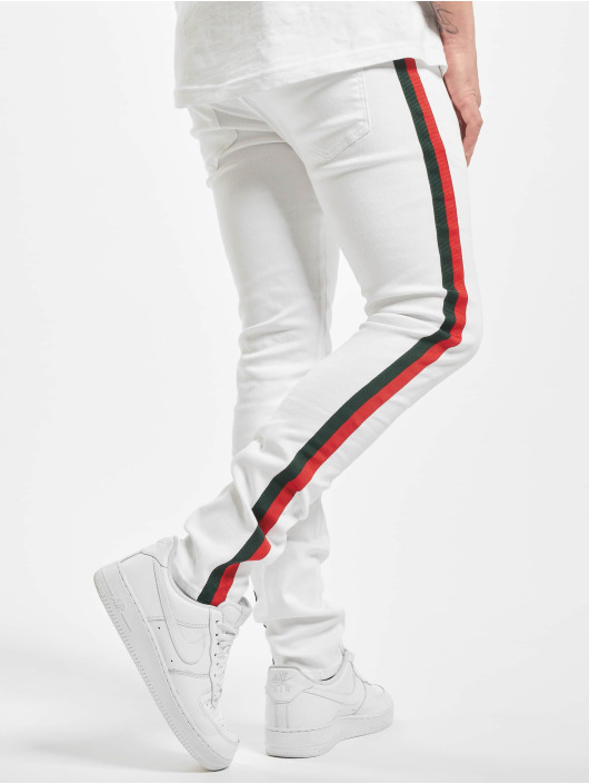 Sixth June Skinny Jeans Denim With Bands white