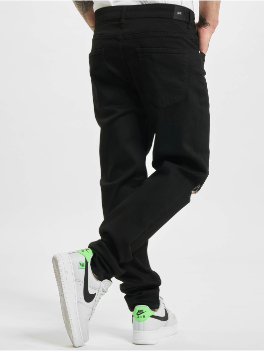 Sixth June Skinny jeans Ripped Relaxed Denim zwart