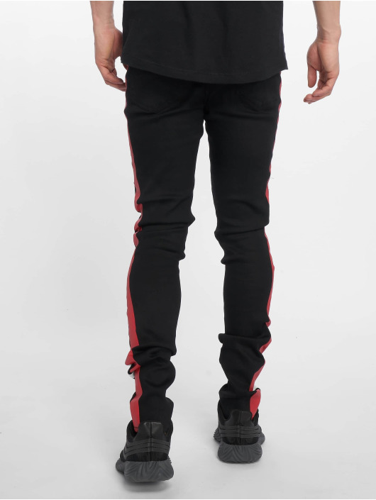 Sixth June Slim Fit Jeans Black/Red Bands èierna