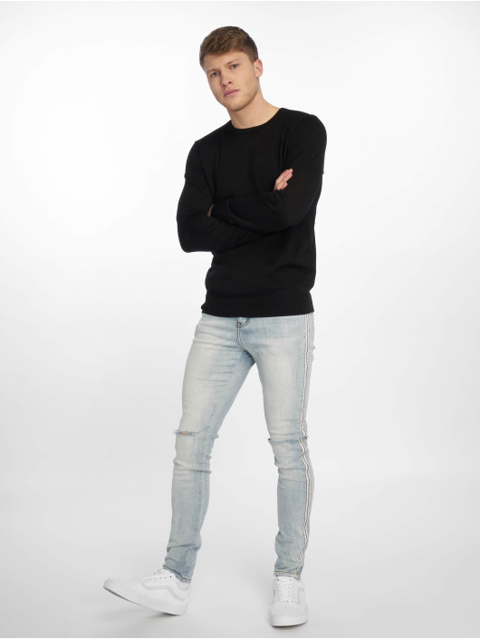 Sixth June Slim Fit Jeans Zipper Band blå