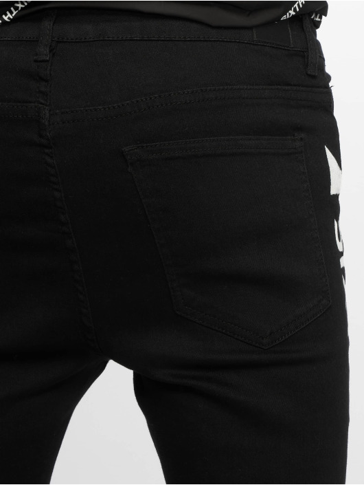 Sixth June Slim Fit Jeans Denim With Printed Sixth June black