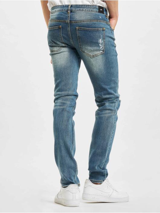 Sixth June Slim Fit Jeans Destroyed Washed blau