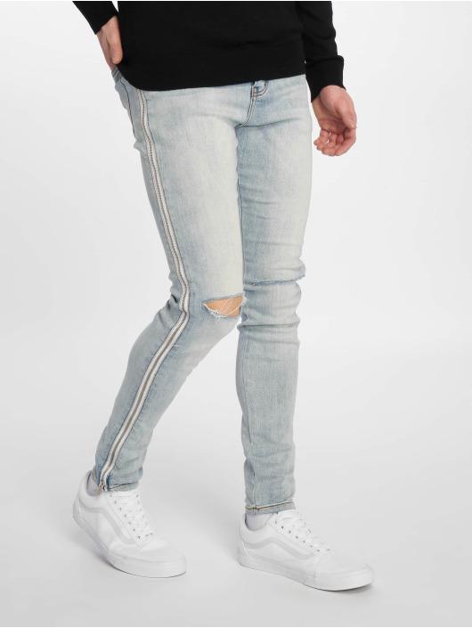 Sixth June Slim Fit Jeans Zipper Band modrá