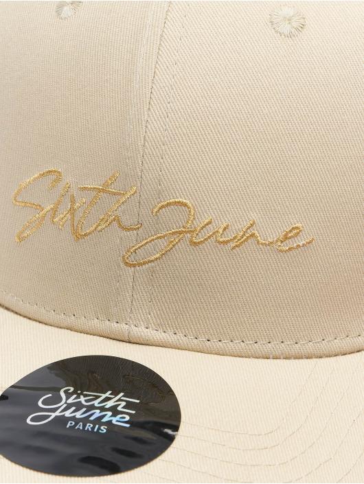 Sixth June Snapback Cap Signature Velvet Logo beige