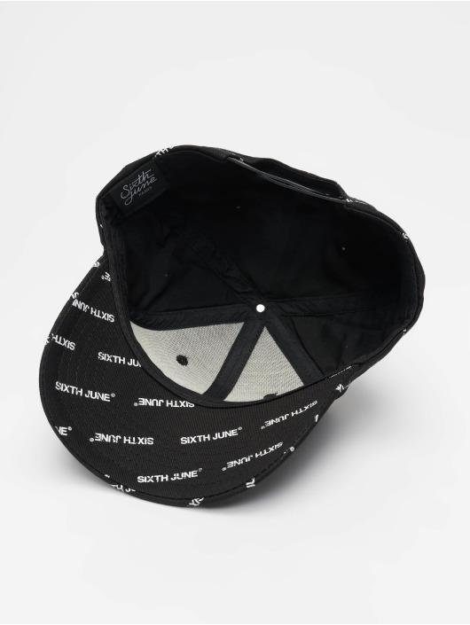 Sixth June Snapback Cap All Over schwarz