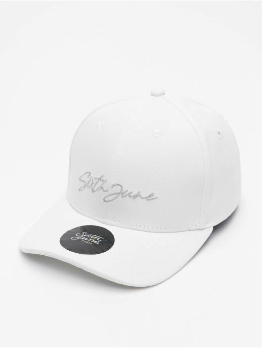Sixth June Snapback Cap Signature Velvet Logo weiß
