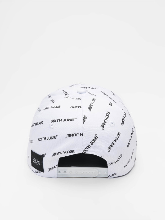 Sixth June Snapback Cap All Over white