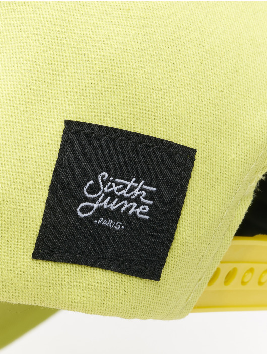 Sixth June Snapback Caps Curved Logo keltainen