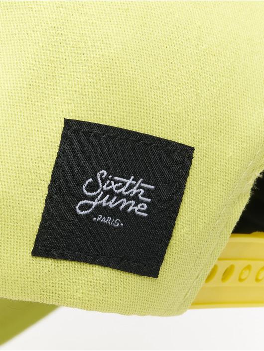 Sixth June Snapback Caps Curved Logo zólty