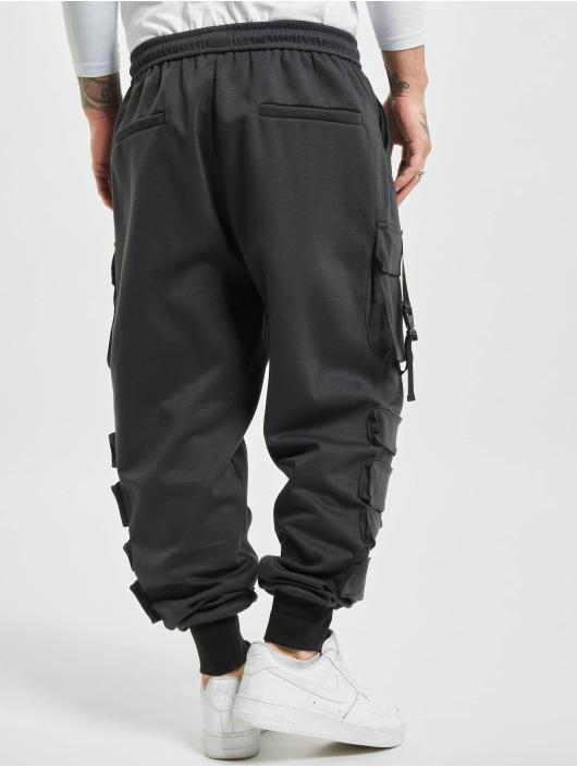 Sixth June Spodnie Chino/Cargo Front Buckle Pocket czarny