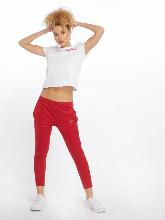 Sixth June Spodnie do joggingu Monochrome czerwony