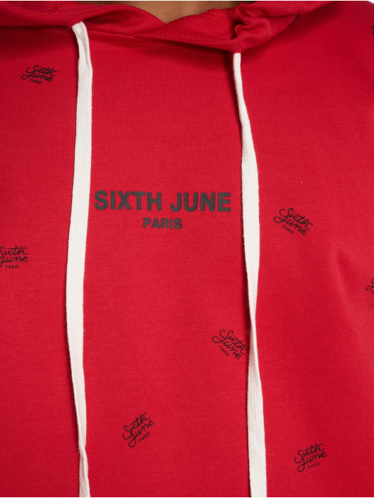 Sixth June Sweat capuche Logo Mania rouge