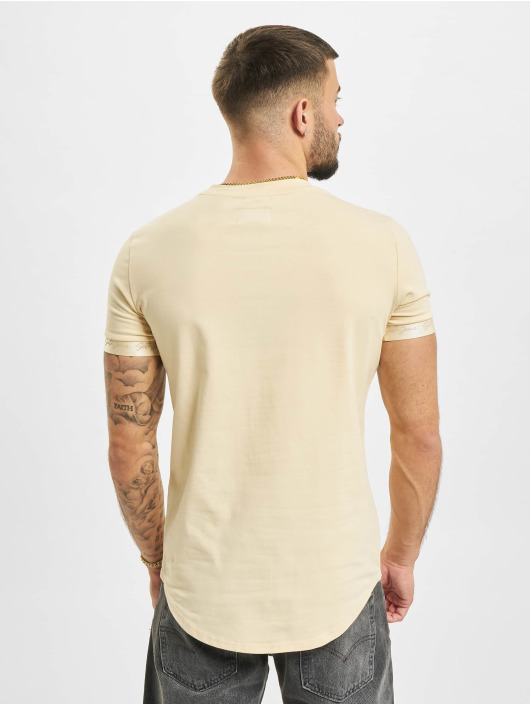 Sixth June T-Shirt Signature Velvet Logo beige