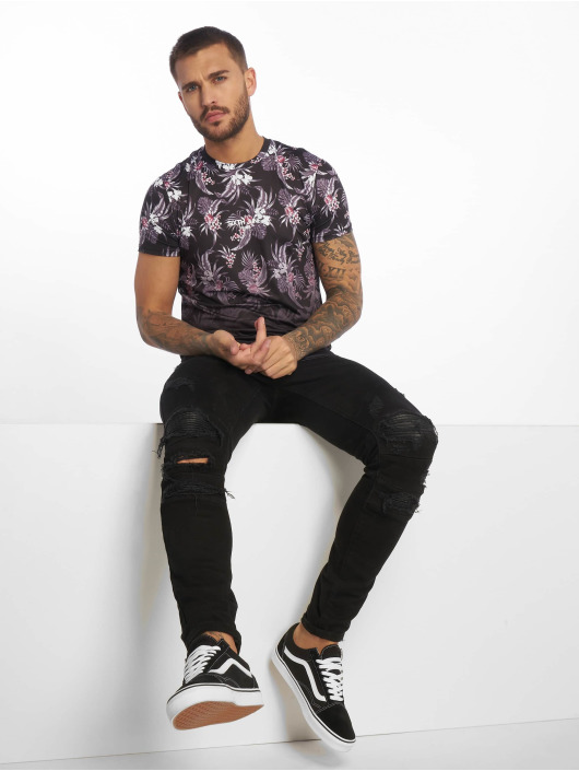 Sixth June T-Shirt Flower Tie Dye V2 black