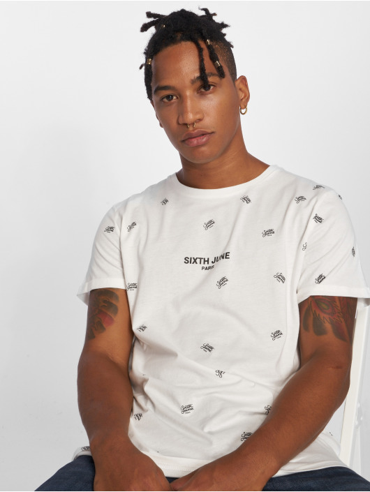 Sixth June T-Shirt Logo Mania blanc