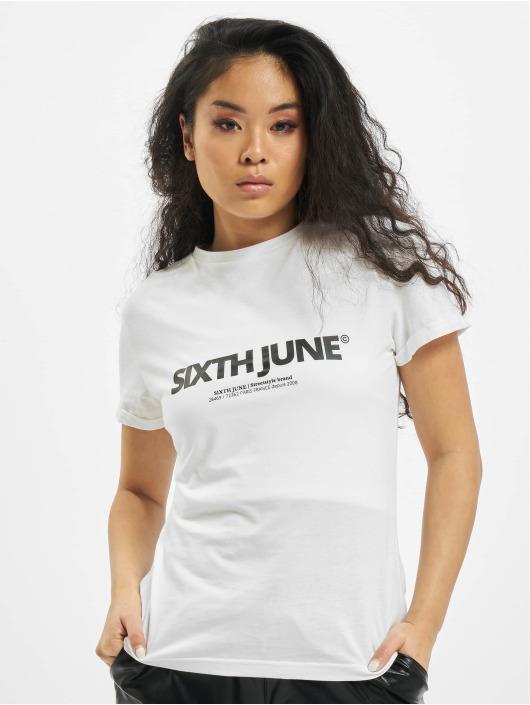 Sixth June T-Shirt Basic Logo blanc