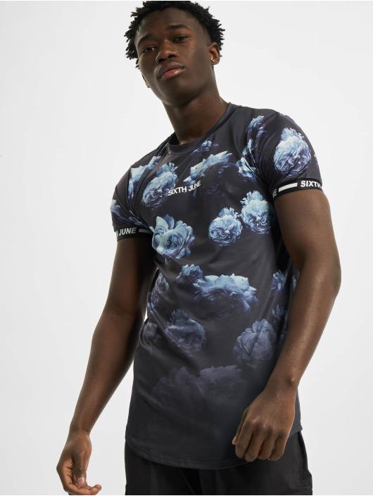 Sixth June T-Shirt Flower Faded Sport blau