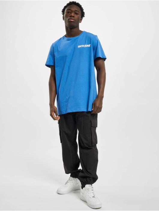 Sixth June T-Shirt Basic Logo blau