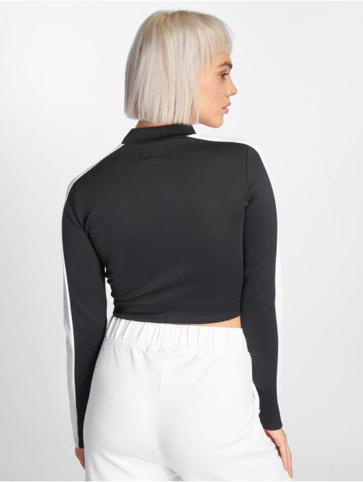 Sixth June T-Shirt manches longues Fit Cropped noir