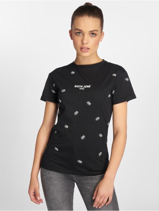 Sixth June T-shirt Logo Mania nero