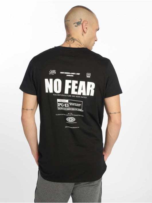 Sixth June T-Shirt Front And Back Print No Fear noir
