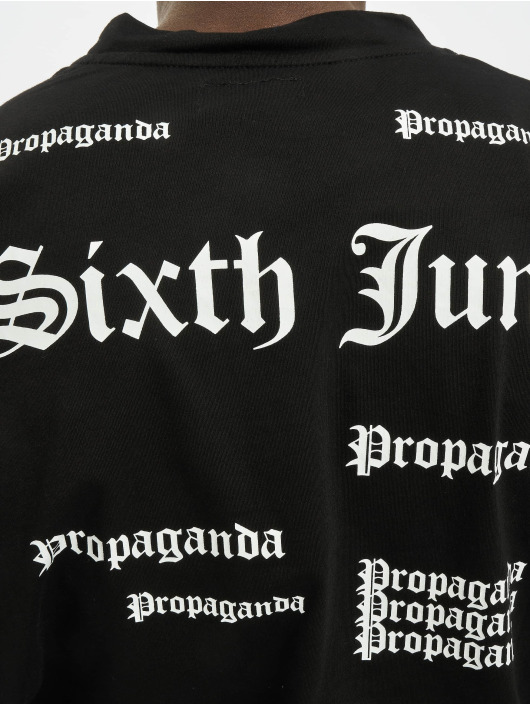 Sixth June T-Shirt Repeat Propaganda schwarz