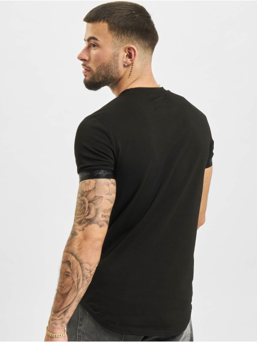 Sixth June T-Shirt Signature Velvet Logo schwarz