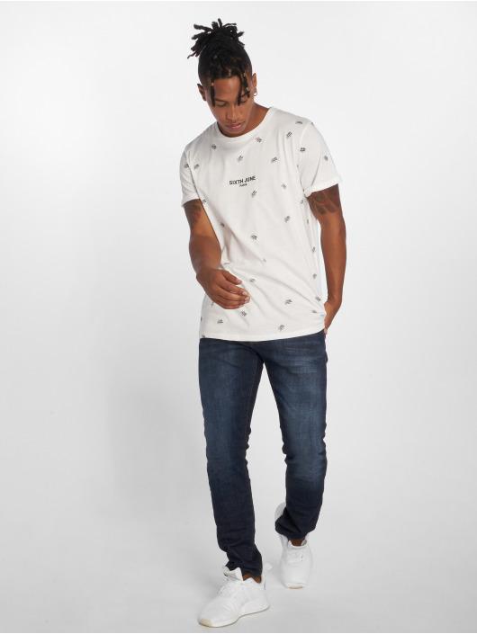 Sixth June T-Shirt Logo Mania weiß