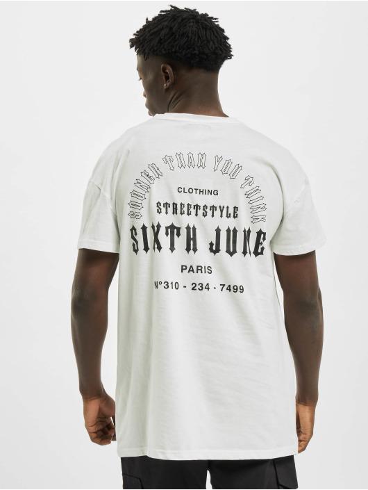 Sixth June T-Shirt Sooner Than You Think weiß