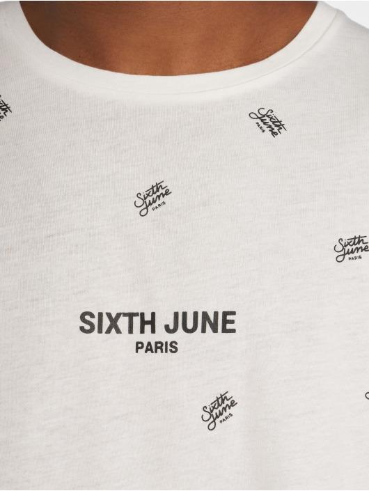 Sixth June t-shirt Logo Mania wit