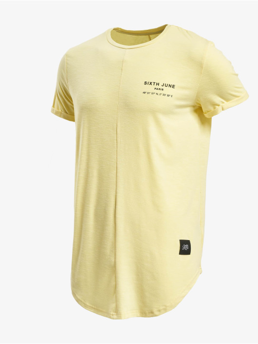 Sixth June T-Shirt Rounded With Gps Print yellow