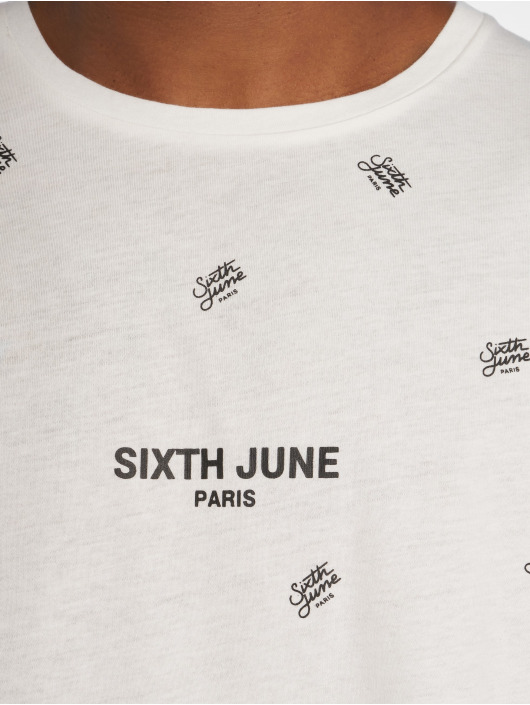 Sixth June T-shirts Logo Mania hvid