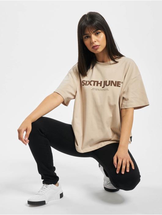 Sixth June T-Shirty Nude bezowy