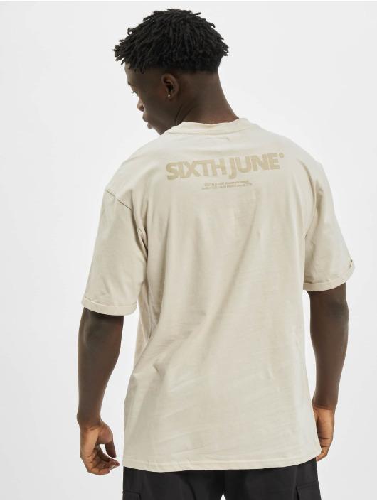 Sixth June T-Shirty Basic Logo bezowy