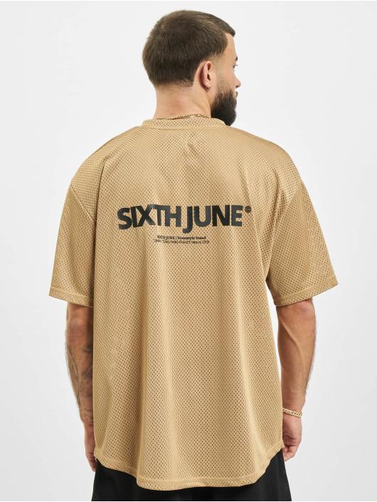 Sixth June T-Shirty Mesh bezowy