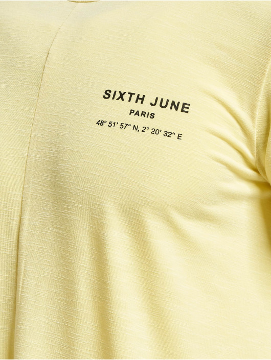 Sixth June T-Shirty Rounded With Gps Print zólty