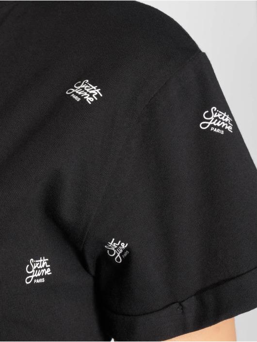 Sixth June T-skjorter Logo Mania svart