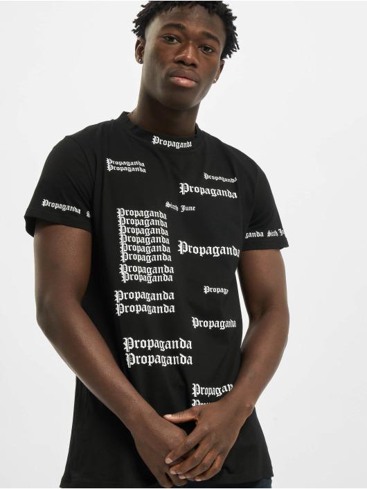 Sixth June T-skjorter Repeat Propaganda svart