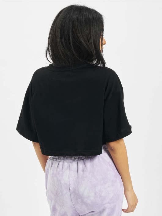 Sixth June T-skjorter Elastic Crop svart
