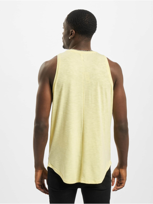 Sixth June Tank Tops Rounded With Gps Print gelb